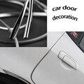 1 M X 7mm acabamento cromado strip, Universal Em Forma de U Costume Cromo Chapeado, Borda Da Porta do carro Decoração