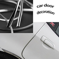 1M X 7mm chrome trim strip, Universal U Shape Custom Chrome Plated, car Door Edge Decoration