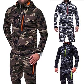 d918b179 CALOFE 2018 chaqueta de camuflaje para correr para hombre talla grande Camo  abrigos con capucha chaqueta