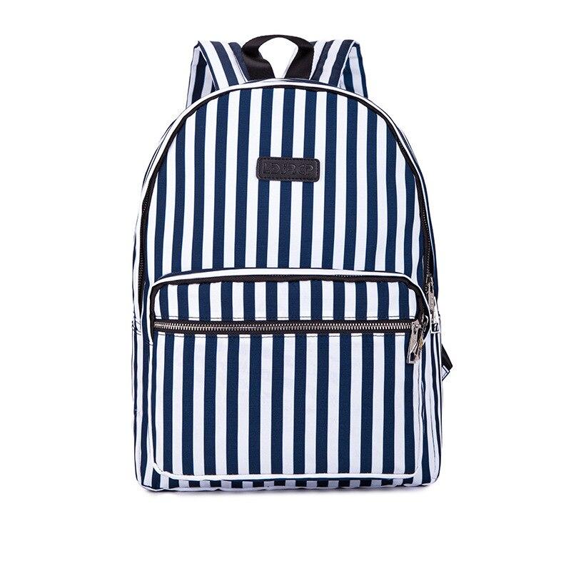 Fashion Women Striped Backpack Clinch Bolt Shoulder Bag Hand Bag Jotoo New Style Shoulder Bag Nan Nv Fashion Leisure Canva