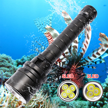 30000lumens Professional Powerful XML L2 LED Waterproof Scuba Diving Flashlight Diver Light LED Underwater Torch Lamp Lanterna trustfire tr j2 diving flashlight 1000 lm xml l2 4 mode led flashlight