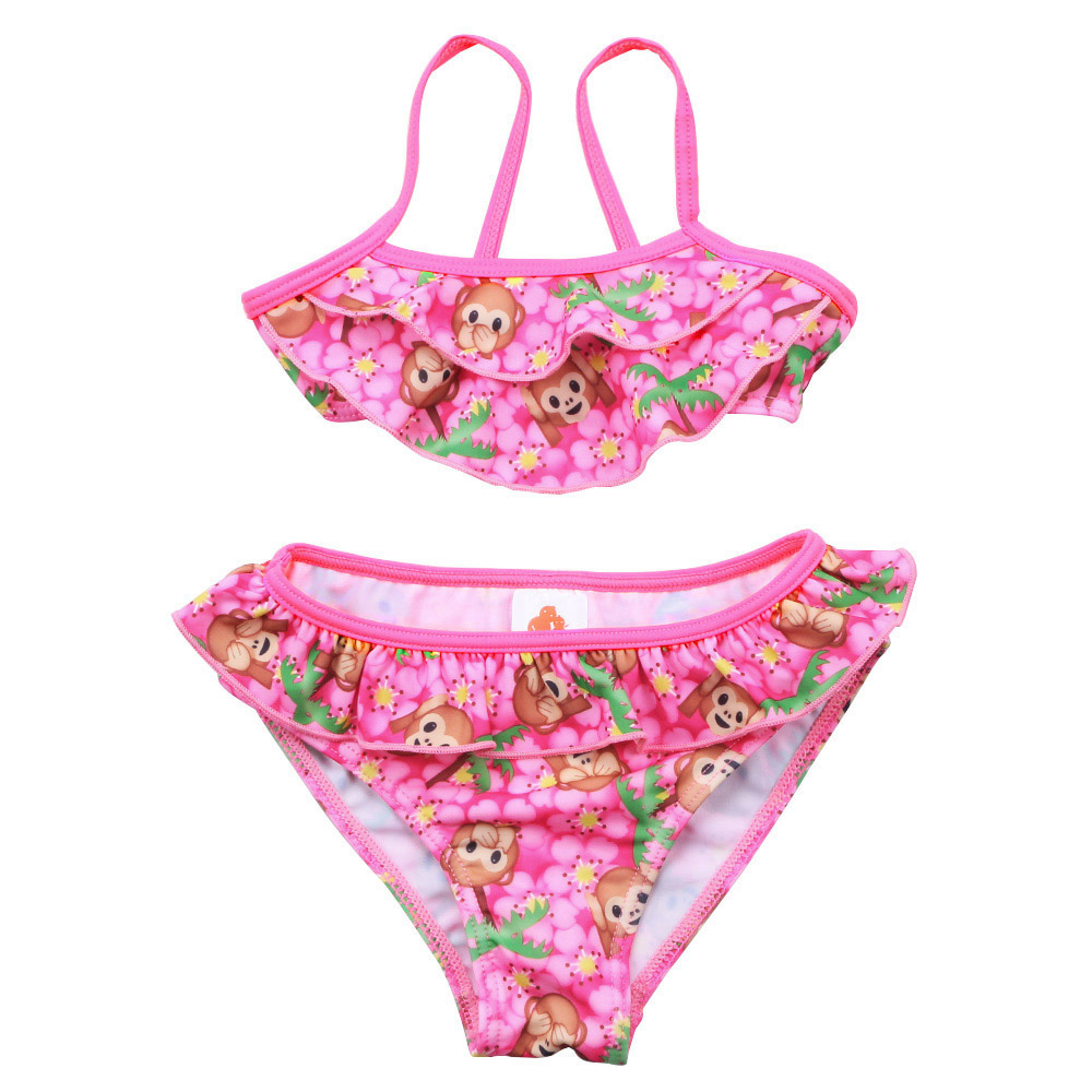 3pcs Kids Baby Girl Bikini Set,Summer Swimwear Swimsuit Bathing Suit Beachwear for 2-7 Years