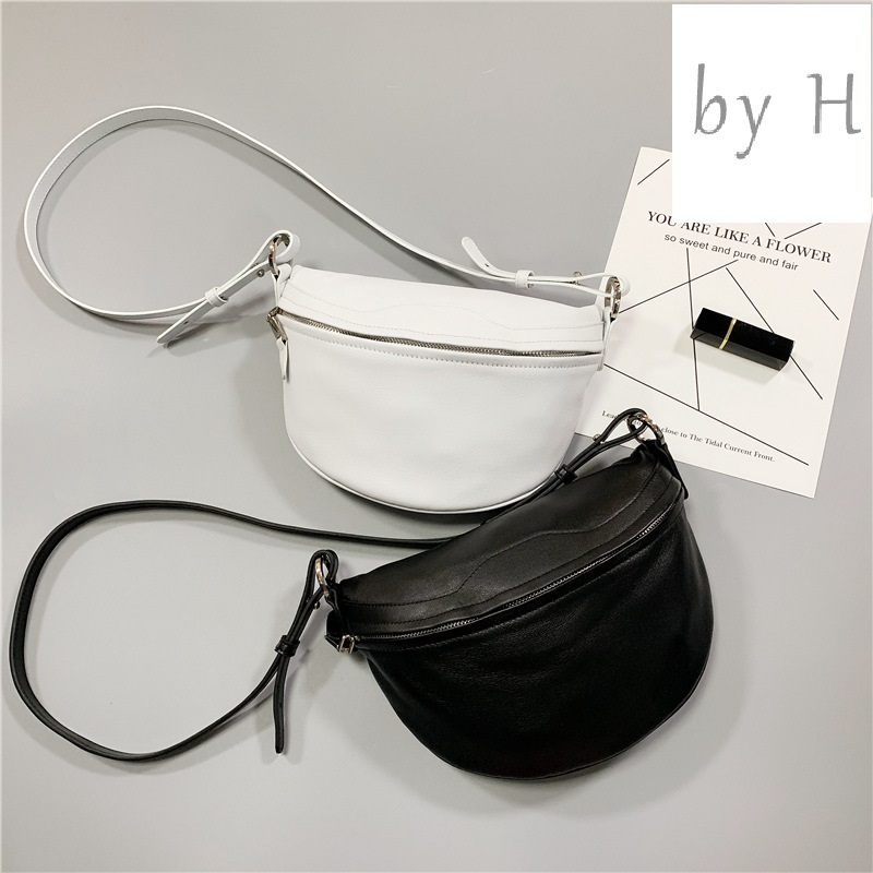 by H new arrival big capacity vintage chest handbags for Women Genuine Leather Adjustable Strap Large Zippered handbags