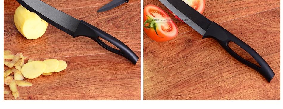 Timhome zircônia cozinha cerâmica faca conjunto 6