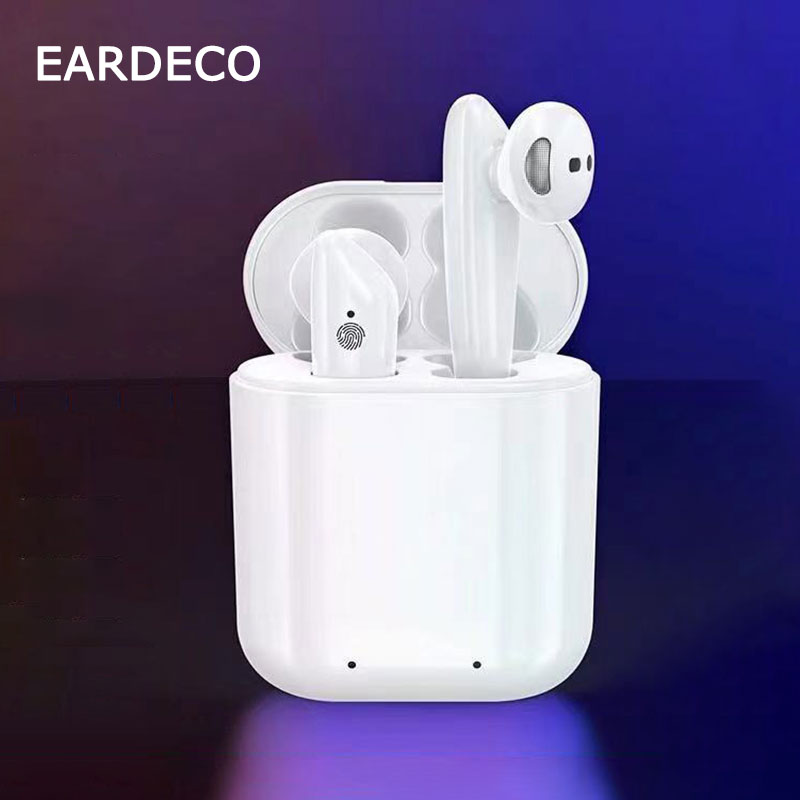 EARDECO <font><b>TWS</b></font> Infrared Sensing True Wireless Earbuds Stereo <font><b>Bluetooth</b></font> Earphone <font><b>5.0</b></font> Headset With Mic <font><b>Touch</b></font> <font><b>Control</b></font> In Ear Earpiece image