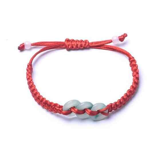 Lx496 pulsera de pescado doble tejida a mano con cuerda roja con moneda de viento frío pulsera femenina coreana sencilla para estudiantes