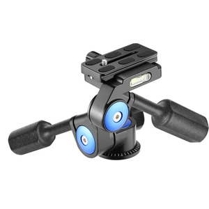 Neewer Camera Video Tripod Head Handle Ball Head 360 Degree Rotation for Camera Slider Light Stand and DSLR Cameras (3-Way)