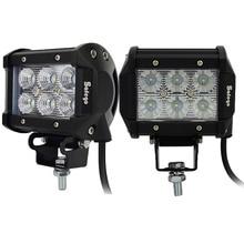 цена на 2pcs LED tractor truck work lights worklight lamp Spot beam 4inch 12V 18W led work light  18W cree led offroad 18W led light bar