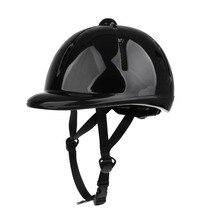 Crianças crianças ajustável cavalo equitação chapéu/capacete cabeça engrenagem de proteção profissional cavalo capacete esportes ao ar livre equipamentos