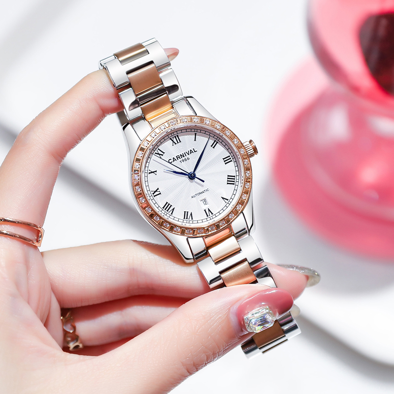 2019 Datejust Automatic Mechanical Watch Women Top Brand Luxury Stainless Steel Wristwatch Roma Number Clock relogio feminino 2019 Datejust Automatic Mechanical Watch Women Top Brand Luxury Stainless Steel Wristwatch Roma Number Clock relogio feminino