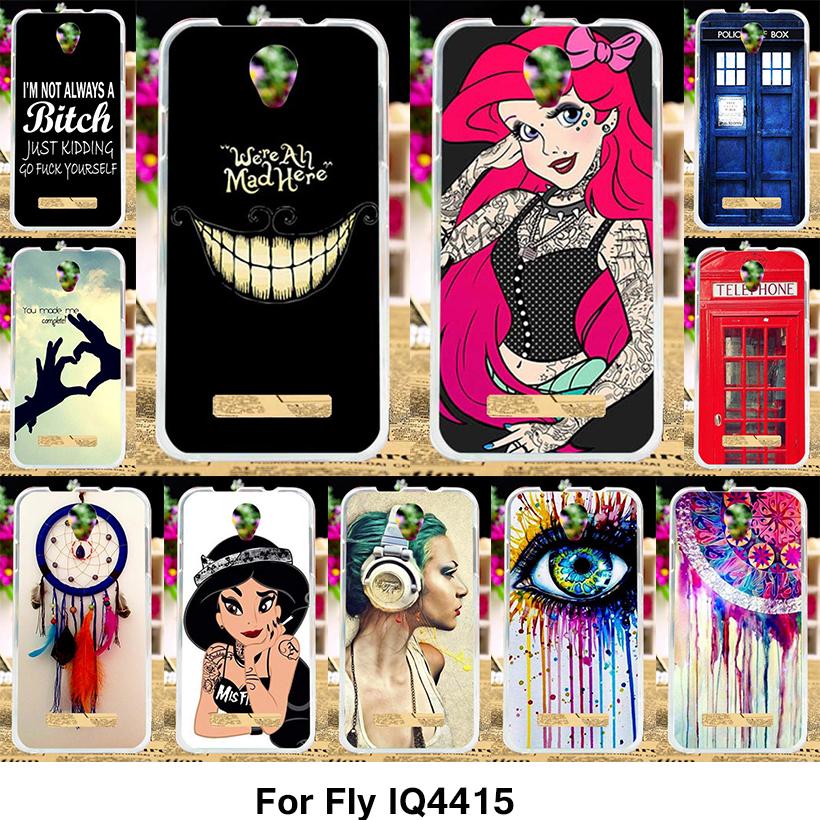 TAOYUNXI Silicone Phone Cover Case for Fly IQ4415 quad Era Style 3 IQ 4415 4.5 inch Case TPU Cover Princes Jasmine Tattooed Girl