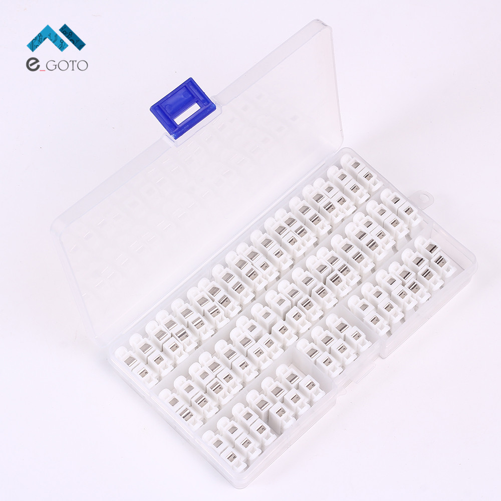 34pcs ch 3 3p spring wire self locking push terminal kits quick connector splice assortment for