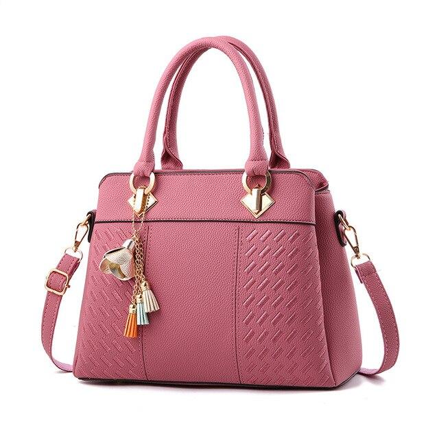 c78ed5e279 Female bag 2018 Brand Fashion Pendant Women Handbags Designer Ladies Hand  Bags Shoulder High Quality PU Leather Bag Women