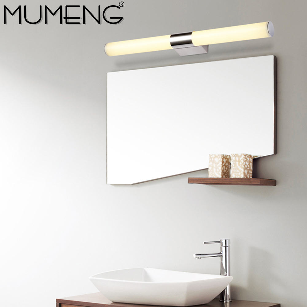 mumeng led bathroom wall lamp 8w mirror wall sconce minimalist design bedroom light 110v 220v acrylic - Designer Bathroom Light Fixtures
