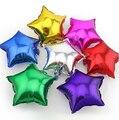 5 pçs/lote Estrela Balão de alumínio presente de Casamento Grandes balões Infláveis Folha de alumínio Balão de Hélio Festa de Aniversário Decoração de Bola