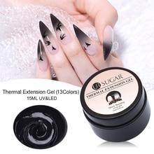 UR SUGAR 15ml Thermal Quick Building UV Gel Finger Extension Polish Crystal Jelly Soak Off LED Varnish Nail Tips DIY