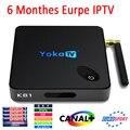YOKA KB1 Tv Box 6 Meses S905X IPTV Amlogic Android 6.0 Tv Box 2 GB/16 GB 2.4G/5.0G WiFi Meida Jogador UHD 4 K 2 K Inteligente europa IPTV