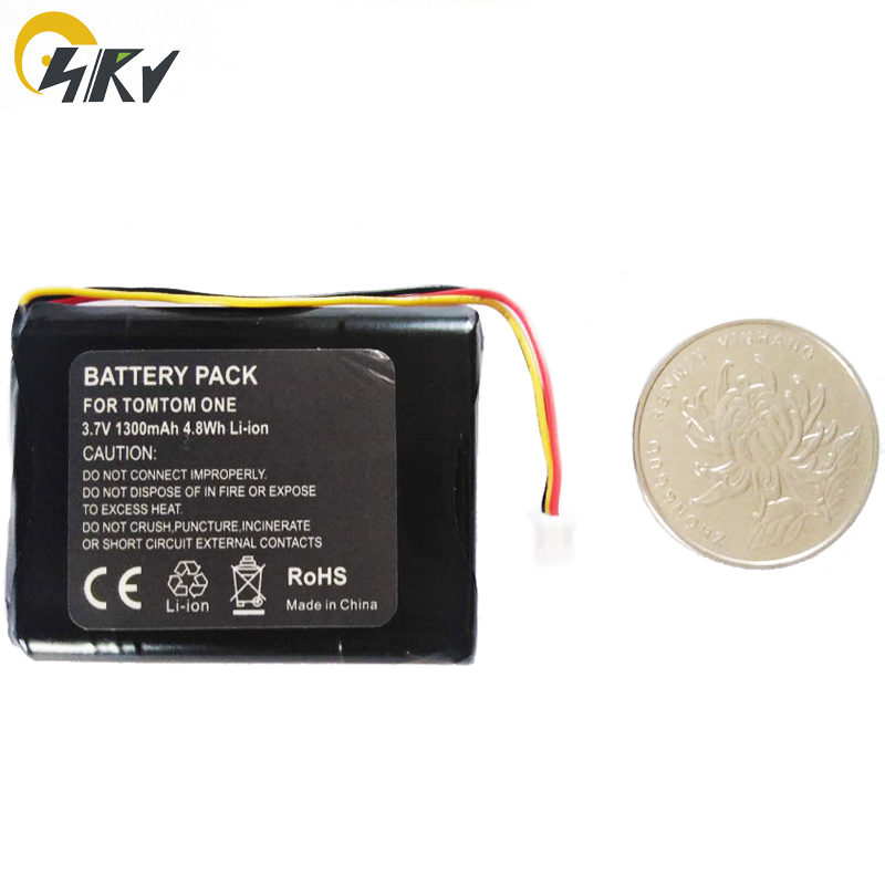 SIRY Li-ion batterie 1300mAh pour TomTom one V2 V3 V5, une 3RD édition DACH ONE EUROPE Version 3 un XL GPS F650010252