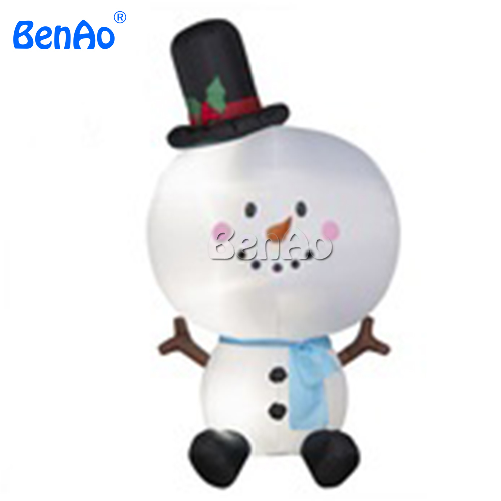 X126 BENAO Free shipping 5m high Inflatable Snowman with different ...