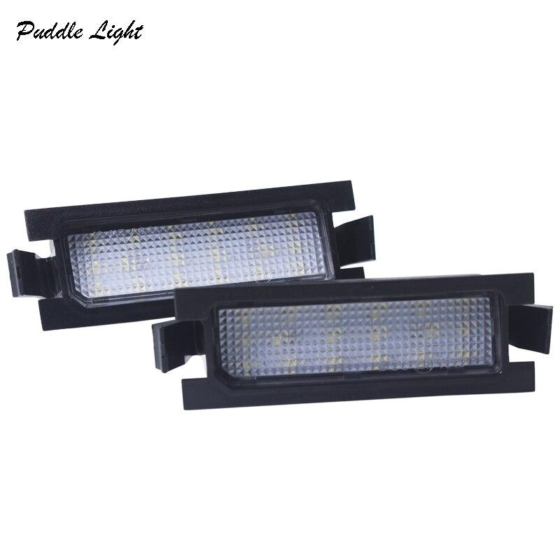 06 2x 18smd הלבן רכב שגיאת סטיילינג אור לוחית רישוי חינם LED עבור KIA PRO CEED (06-11) יונדאי I30 (GD) מנורות צלחת מספר זנב מכונית (5)