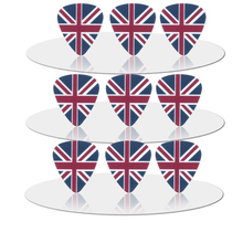 SOACH  50PCS 0.71mm Hot sale exquisite high quality two side earrings pick DIY design The British flag pick guitar picks