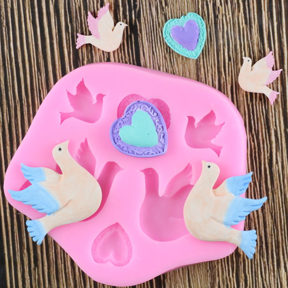 Pigeon Bird Shape Silicone Mold Fondant Chocolate Mold Soft Clay Clay Tool