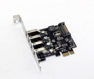 Image 4 - 4 Port USB 3.0 5 Gbps Pci express X1 Kartı Adaptörü HUB için Düşük Profilli Braketi Destekler