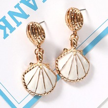 Vintage Shell Drop/Dangle Earrings For Women Marine Wind Charm Statement Pendientes Earings Jewelry цена