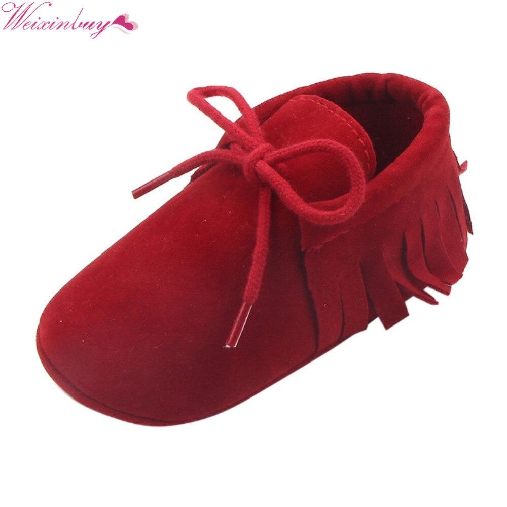 2017 Baby Boys Girls Moccasins Moccs Shoes Pirmieji Walkers Bebe - Kūdikių avalynė