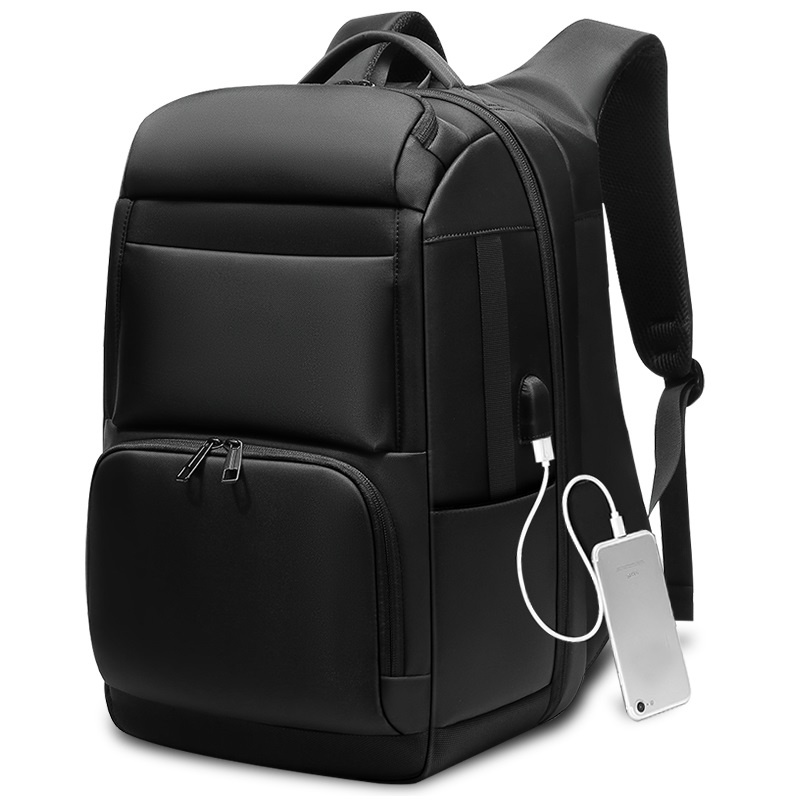 Anti-theft Laptop Backpack - Water Resistant, USB Port, Luggage Strap