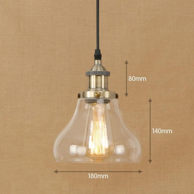 iwhd glass ball style loft lamp vintage industrial lighting fixtures edison led pendant light. Black Bedroom Furniture Sets. Home Design Ideas