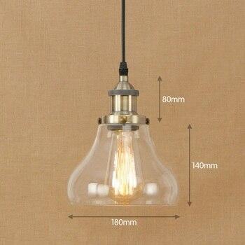 IWHD lámpara colgante de cristal lámpara colgante clásica LED estilo americano Loft...