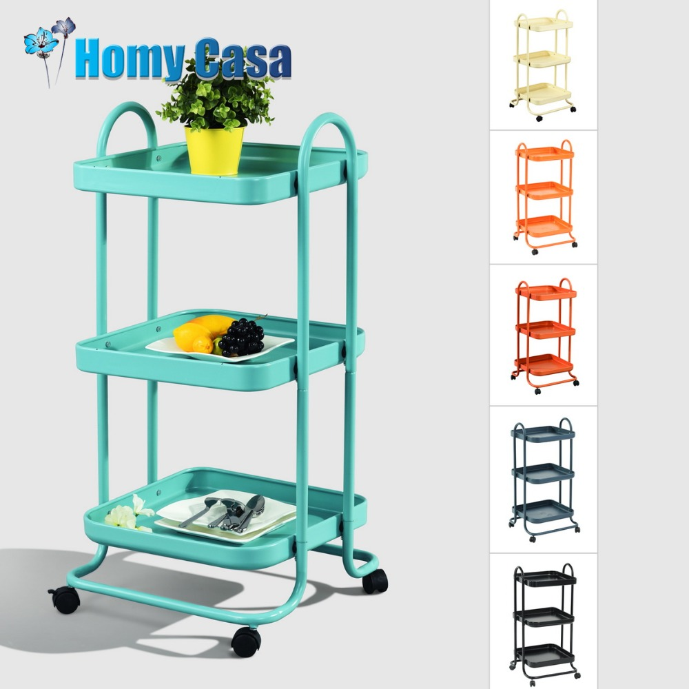 Louis Fashion Kitchen Trolleys Small Cart Home Floor Multi Storey ...