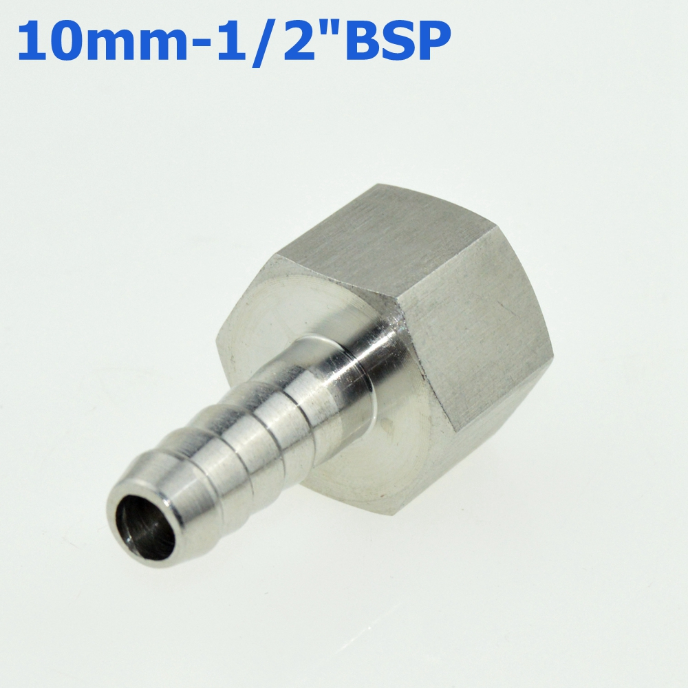 1//4BSP Female to Female L Shape Elbow Hose Pipe Tube Fitting Connector 2pcs