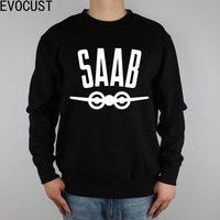 SAAB SCANIA PLANE men Sweatshirts Thick Combed Cotton