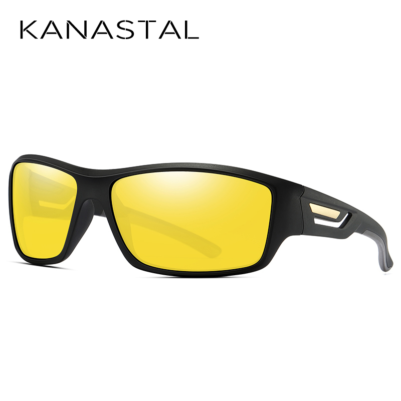 KANASTAL Night Vision Glasses For Night Driving Polarized Yellow Glasses Unisex High Quality HD Eyewear Protection UV400