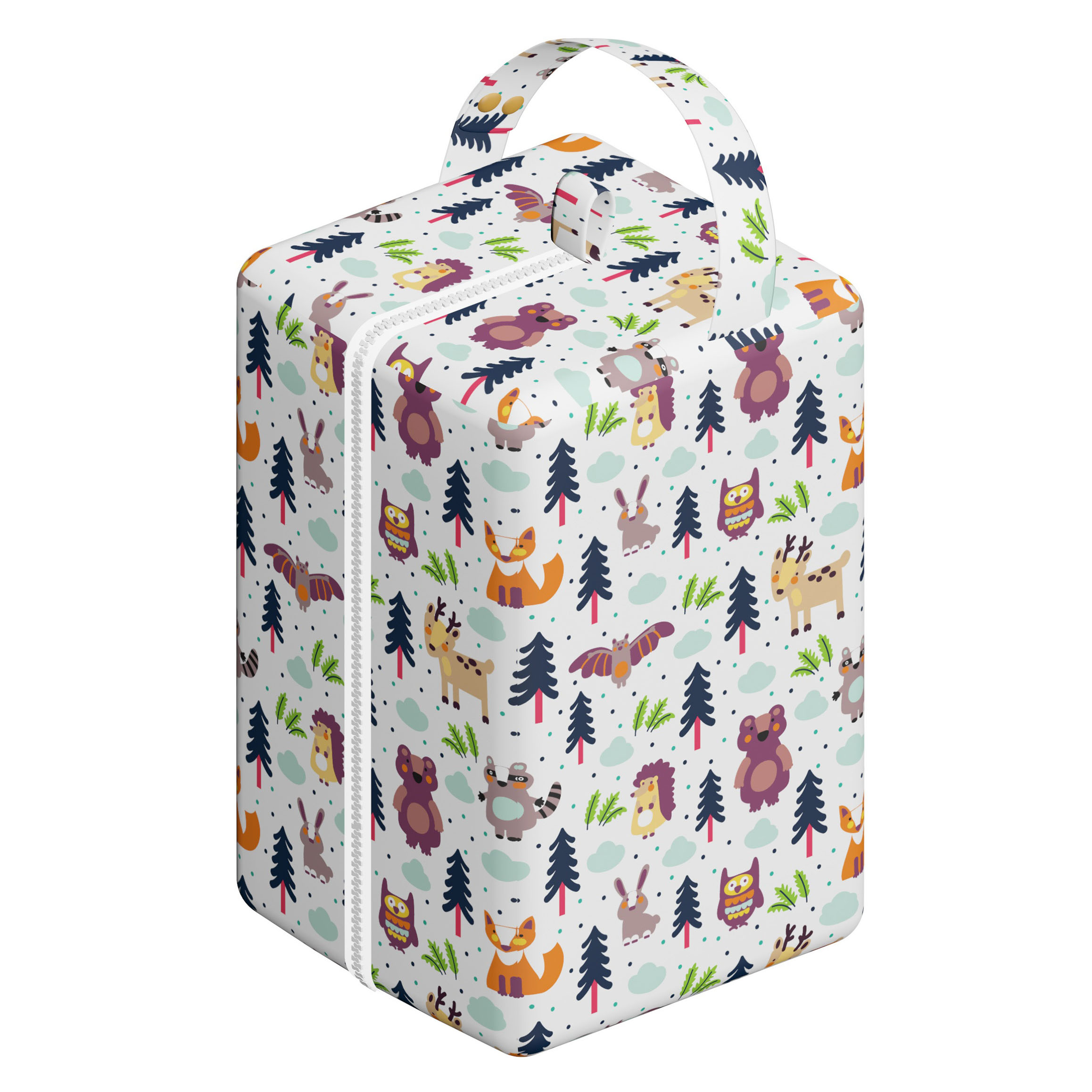 Moms Kiss Hi Sprout Grab and Go Waterproof Washable Reusable Diaper Wet Dry Cloth Diaper Bags