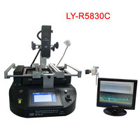 LY R5830C touch screen BGA infrared rework station hot air 3 zones for repairing computer mobile phone motherboard and IC chip