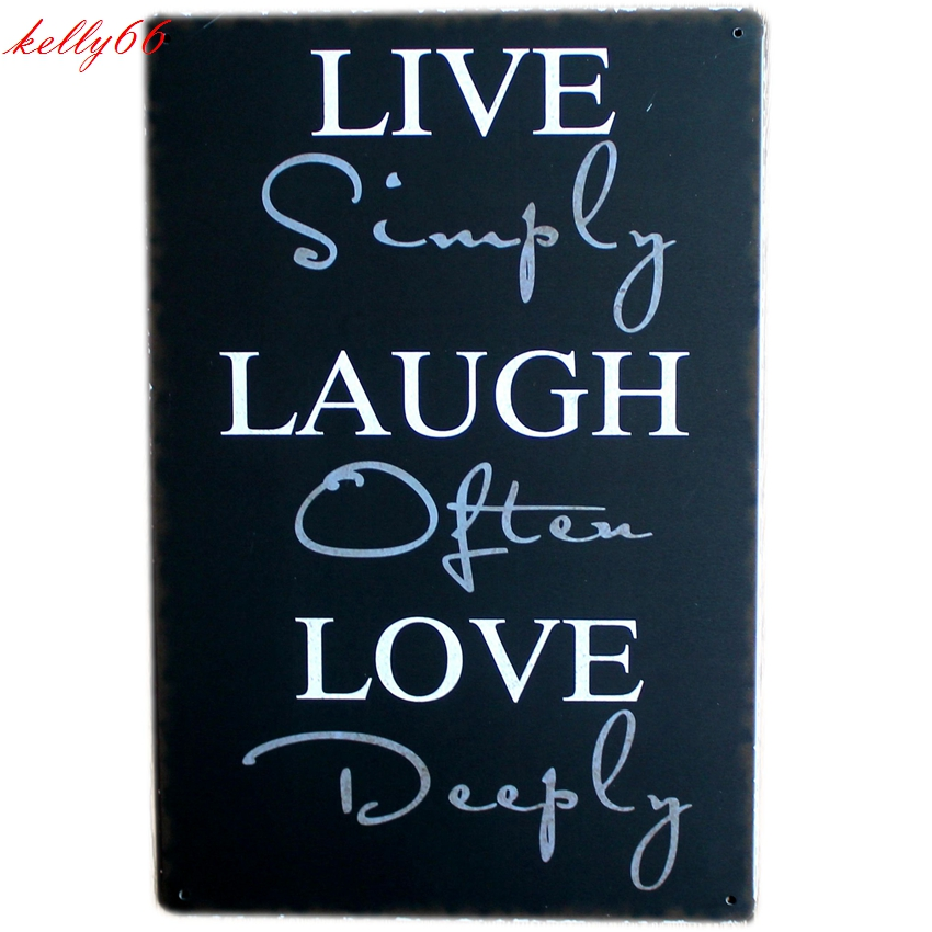 [ Kelly66 ] LIVE Metal Plaque Bar House Wall Signs Painting Craft 20*30 CM Size AA-723 ...
