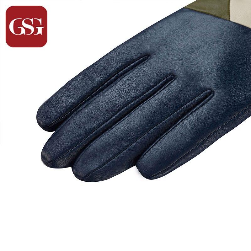 Gsg neue mode frauen echtes leder lange handschuhe mit patchwork - Bekleidungszubehör - Foto 6
