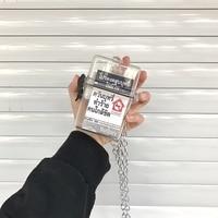 New 1pcs Waterproof Clear Cigarette Case Box Chain Neck-hung Plastic Transparent Bag Storage Box Portable Club Travel
