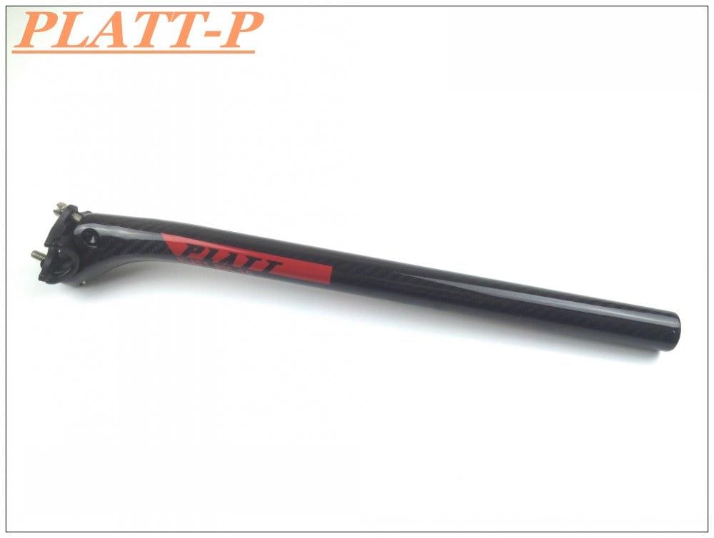PLATT-P Red logo bike seatpost carbon seatpost seatpost matt / glossy finish biking road bike seat post 27.2/30.8/31.6X400mm