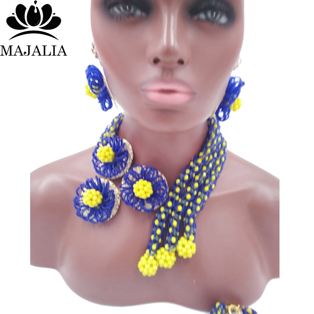 2017 Fashion Nigeria Wedding african beads jewelry set blue Crystal necklace Bridal Jewelry sets Free shipping VV-1412017 Fashion Nigeria Wedding african beads jewelry set blue Crystal necklace Bridal Jewelry sets Free shipping VV-141