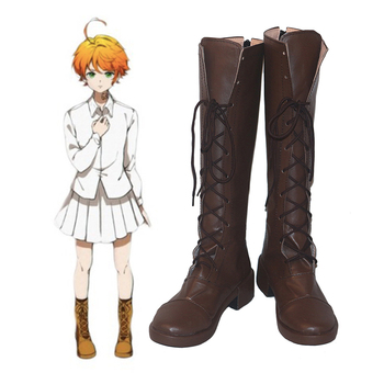 Anime The Promised Neverland Cosplay Shoes Emma Cosplay Shoes Boots Halloween Carnival Party Yakusoku no Neverland Cosplay Shoes фото