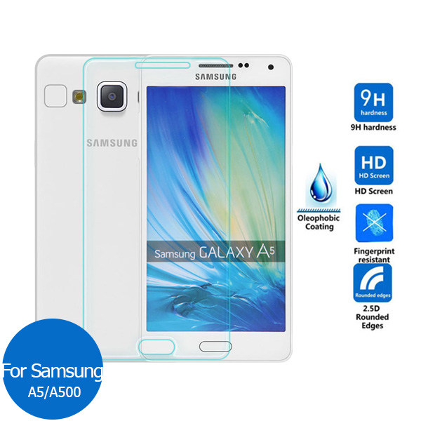 2PCS For Samsung GALAXY A5 2015 Tempered Glass Screen Protector 9h Safety Protective Film On A 5 500F A500 A500F A500H SM-A500H