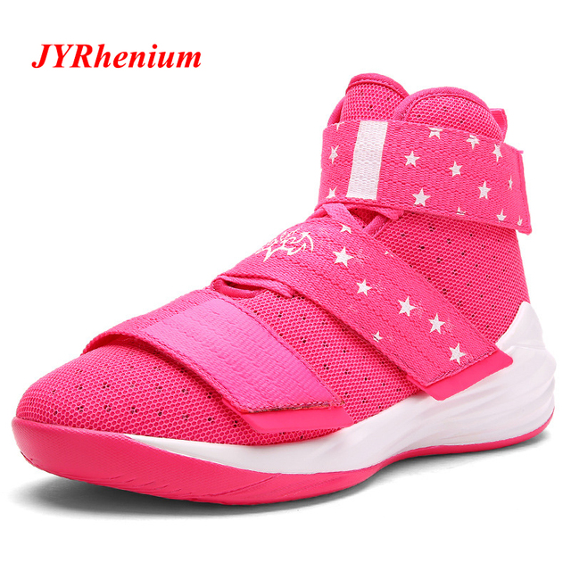 2018 New Big Size 36-45 Men Women Basketball Shoes Rubber Basketball Boots  New Sneakers New Trend Couples Basketball Trainers 89947622df