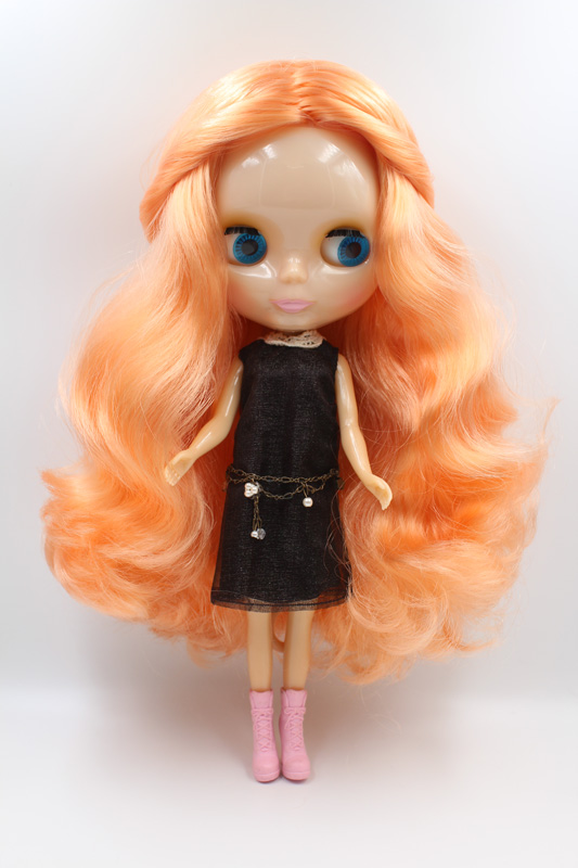 Free Shipping Transparent RBL-349T DIY Nude Blyth doll birthday gift for girl 4 colour big eyes with beautiful Hair cute toy