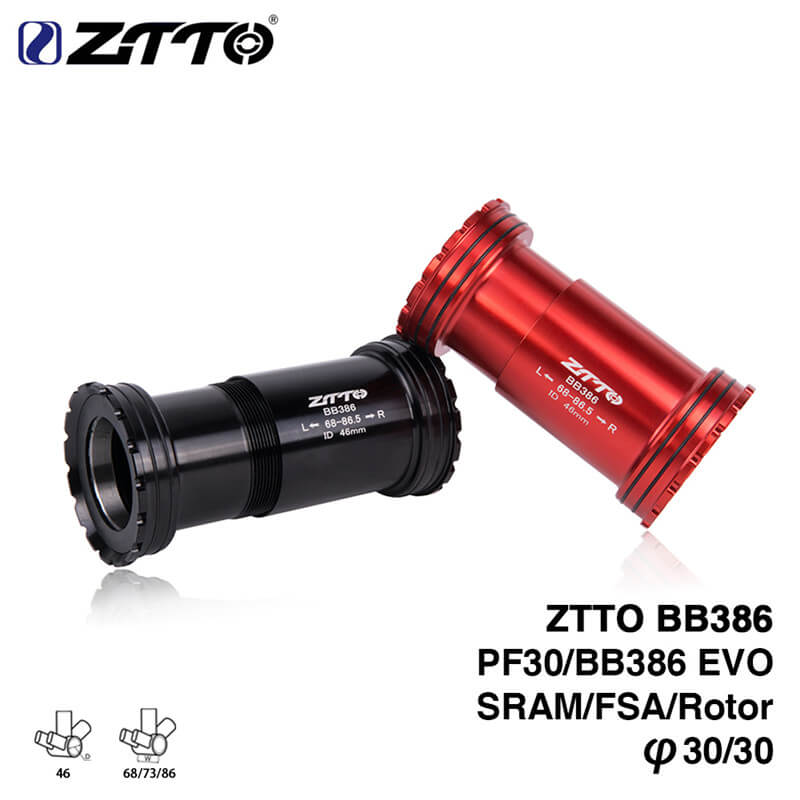 ZTTO Aluminum/Alloy BB386 Bicycle Press Bottom Brackets Axle for MTB Road Bike Rotor 3D SRAM FSA K Force 30mm Crankset Chainset