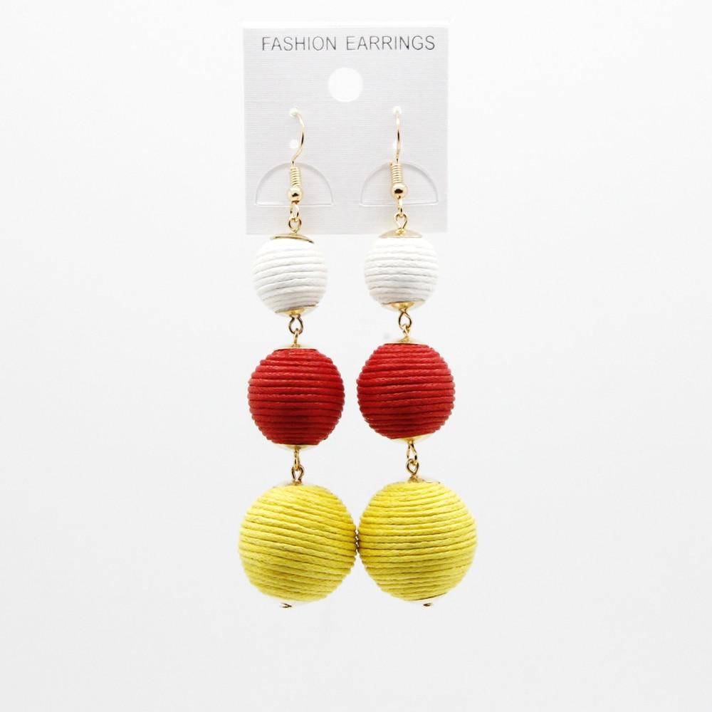 Legenstar Thread Ball baumeln Ohrringe für Frauen Pom Pom Drop - Modeschmuck - Foto 6