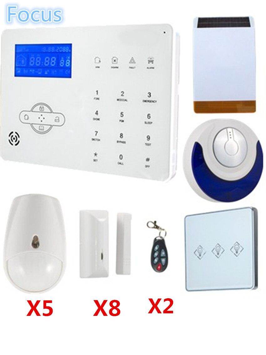 Sicherheit & Schutz Yobang Sicherheit Wireless Outdoor Sirene App Fernbedienung Home Office Sicherheit Alarm System Wireless Rauchmelder Wireless